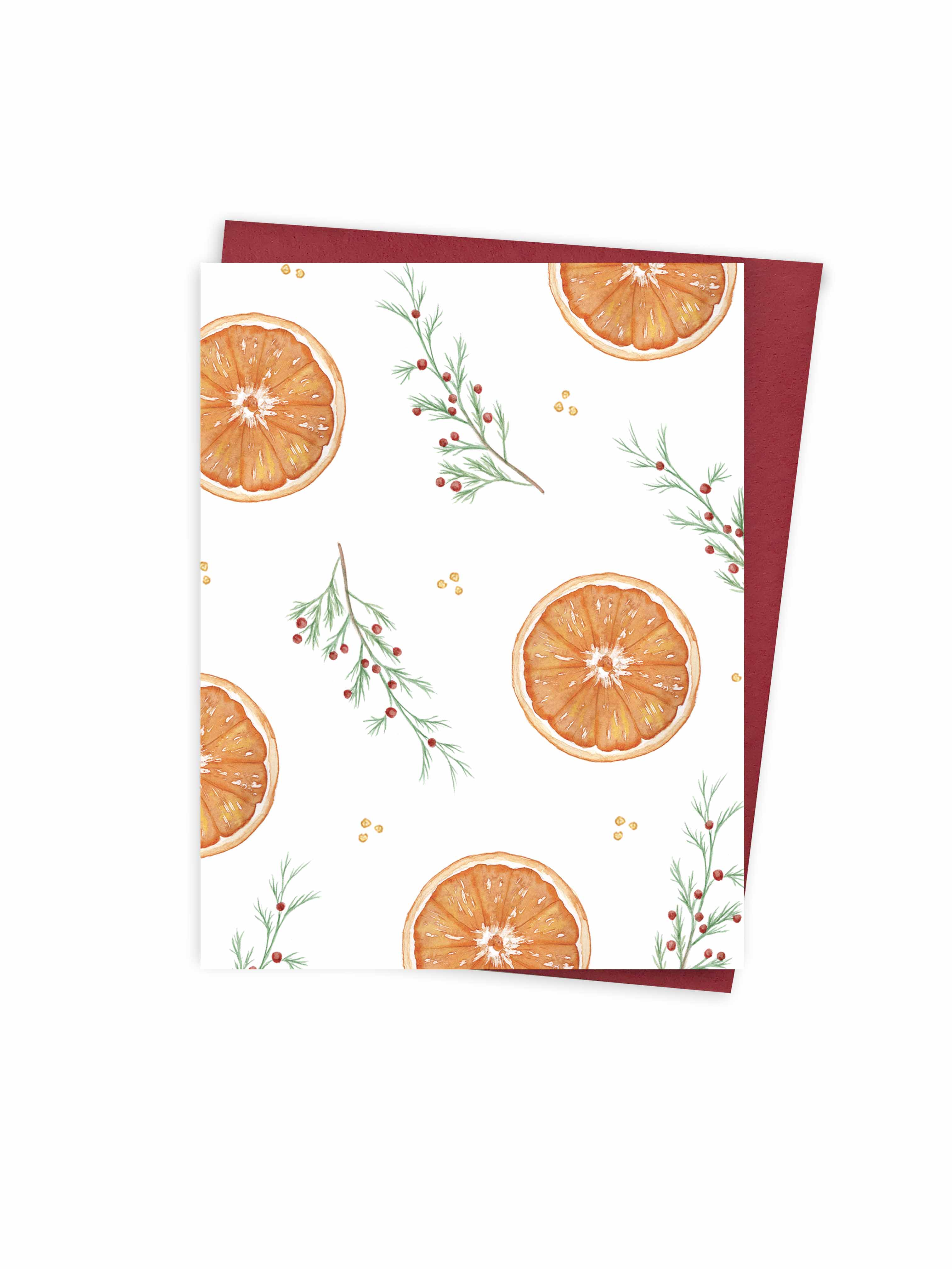 Christmas - Oranges pattern