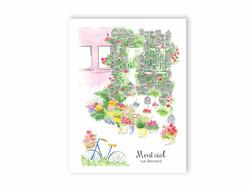 Carte Postale Rue Bernard - Fleuriste Dragon flowers