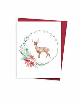 Christmas Wreath & Deer