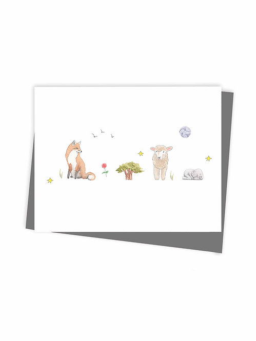 Greeting card The little prince - Made in Quebec