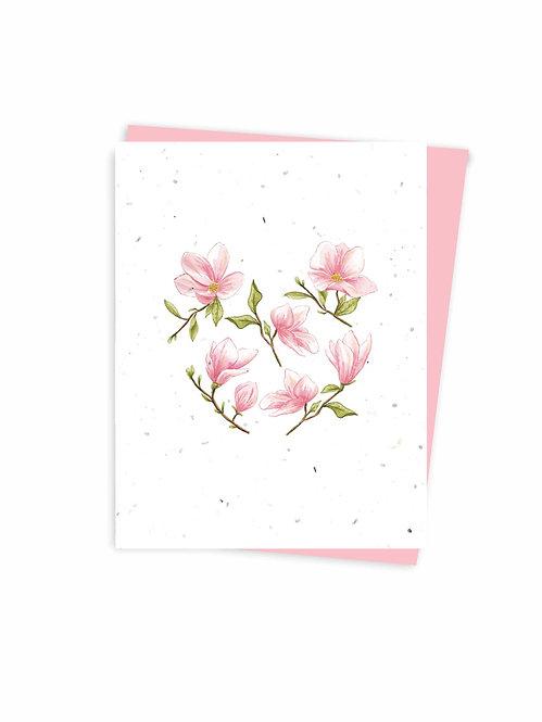Carte ensemencée à planter,  Magnolias