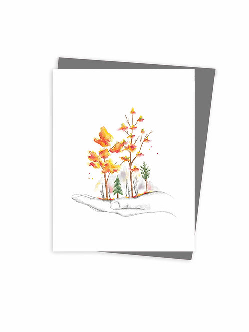 Autumn greeting card, made in Quebec