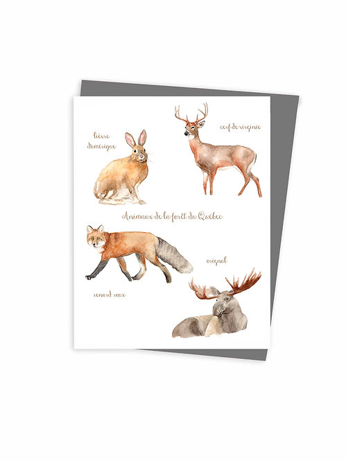 Carte de souhaits écoresponsable fait au Québec, Canada / Eco-friendly greeting card made in quebec Canada