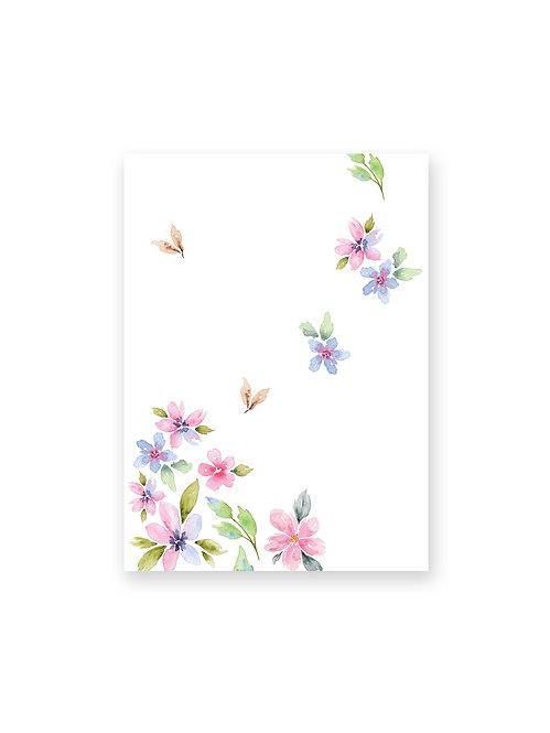 Cahier de notes Fleurs au vent
