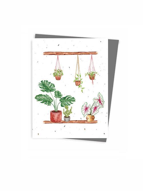 Carte ensemencée à planter, Seed card, Carte plantable, Plantable card, made in quebec Canada, fait au québec