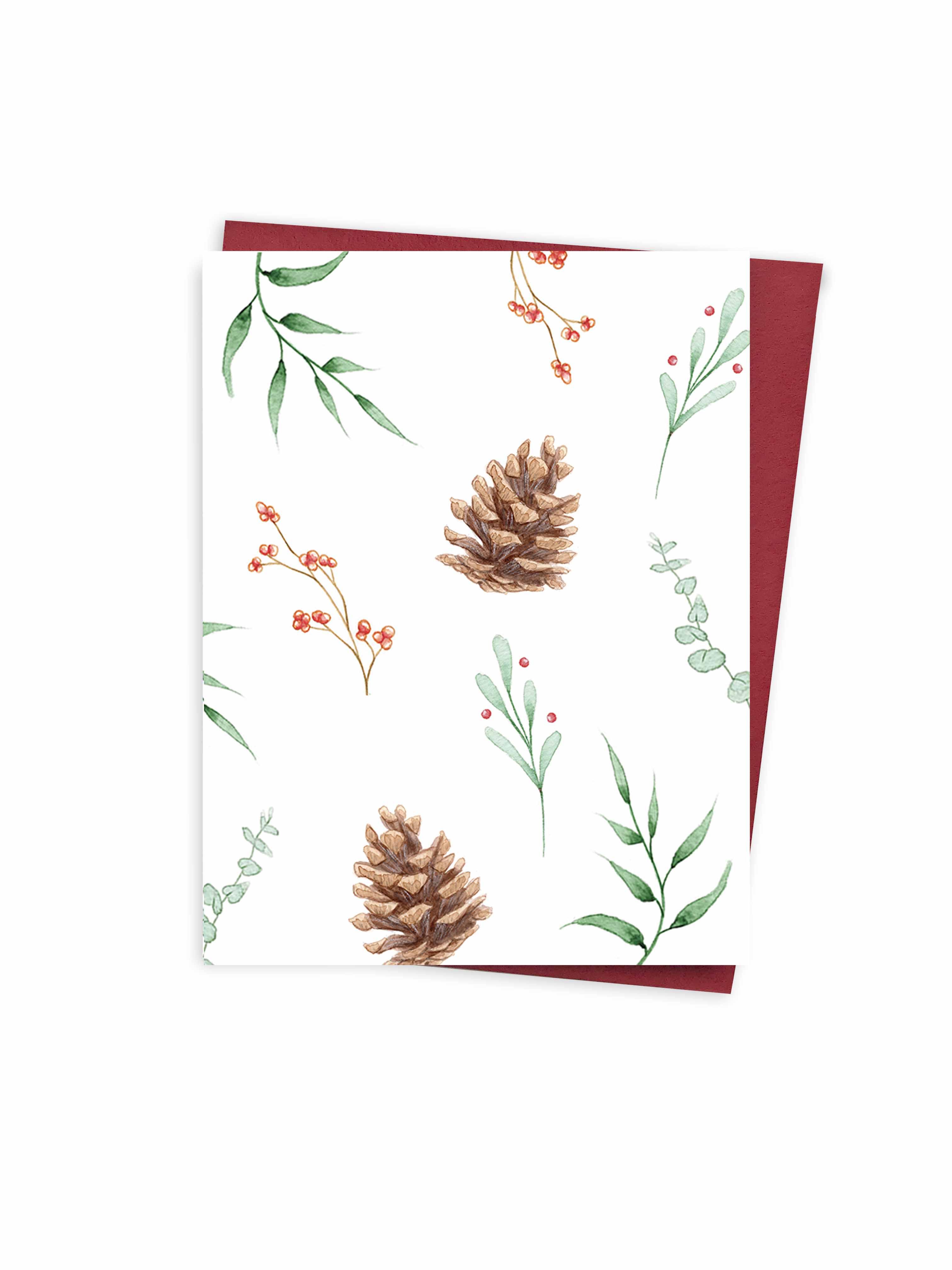 Christmas - leafs pattern