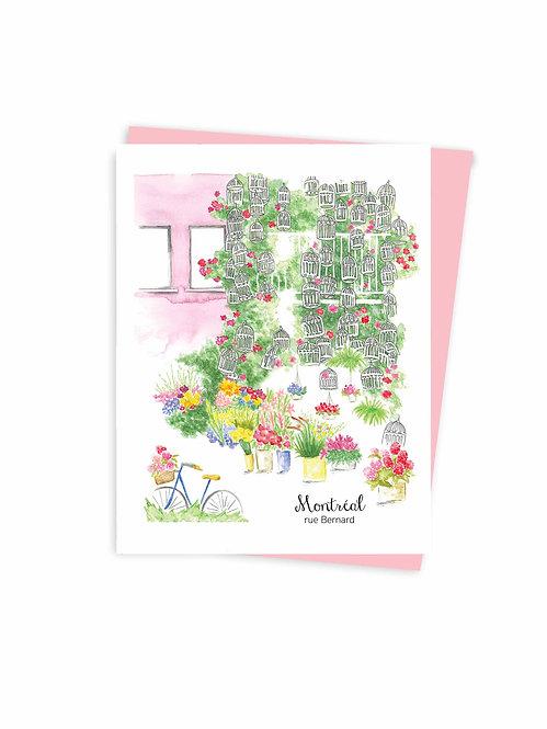 Carte de souhaits de Montréal écoresponsable fait au Québec / Eco-friendly Montreal greeting card made in quebec Canada