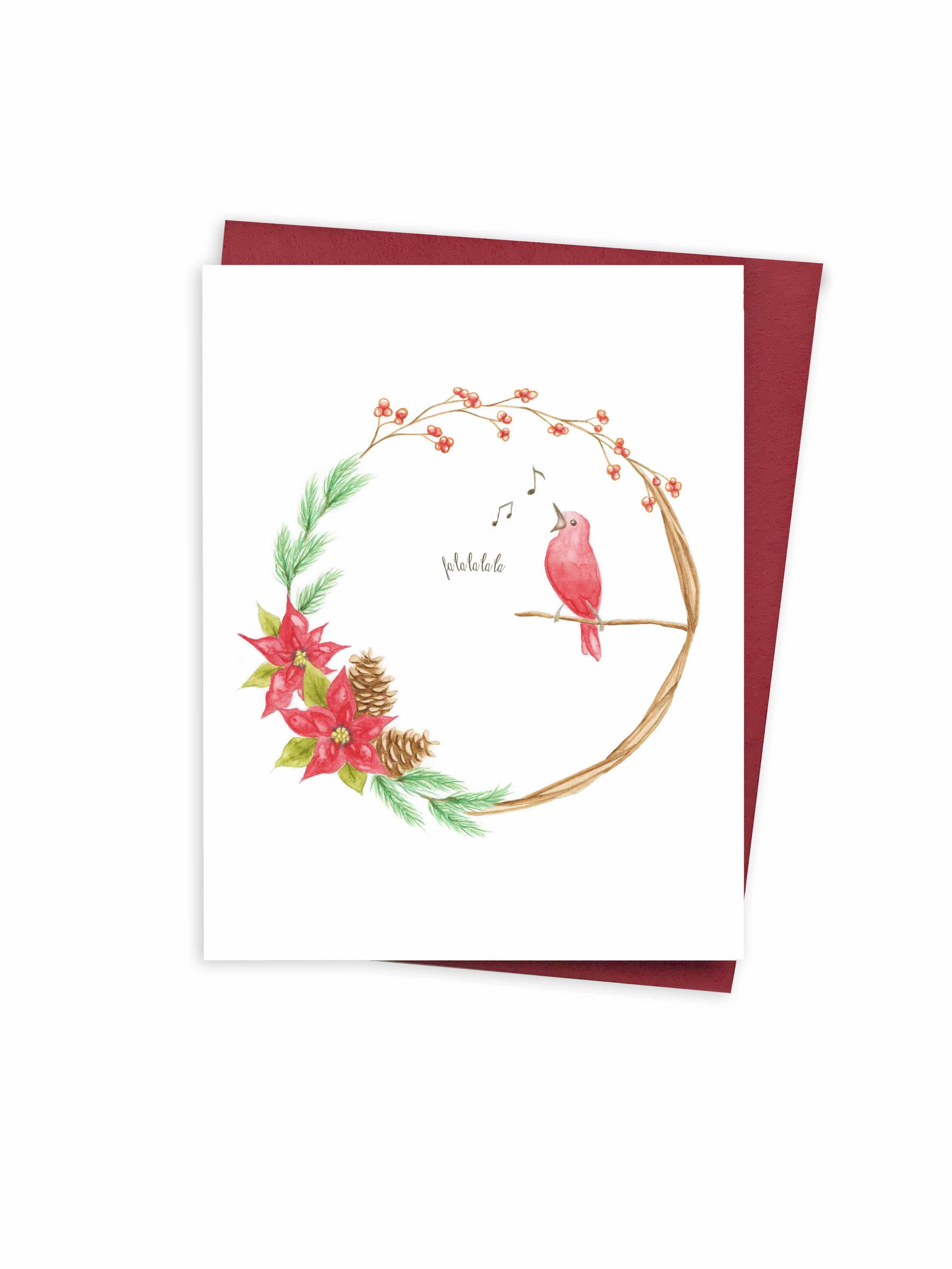 Christmas - Wreath & bird