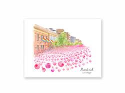 Post card Montreal gay Village