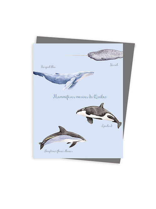 Carte de souhaits écoresponsable fait au Québec, Canada / Eco-friendly greeting card made in quebec Canada