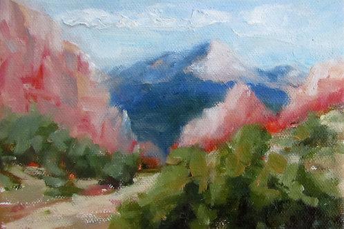 """""""Pikes Peak Plein Air"""" 5x7 print"""