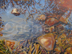 """Late Winter Pond, Oil, 48x36"""""""