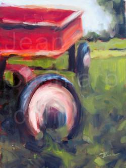"""Four-wheeling!, Oil, 9x 12"""""""