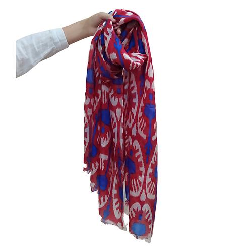 イカット絣シルクスカーフ