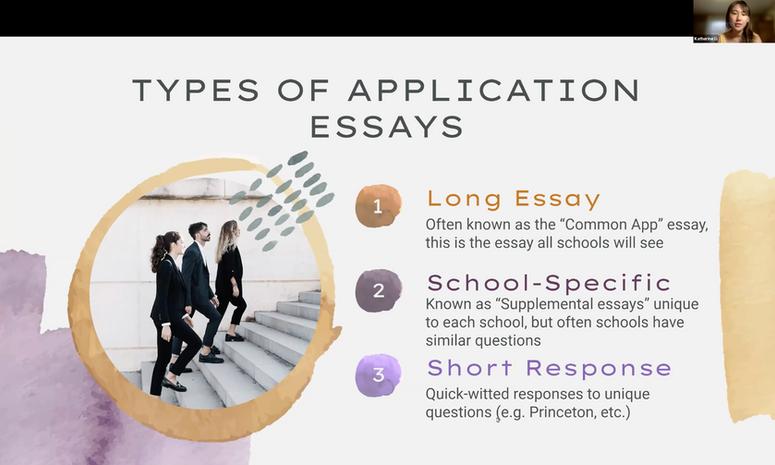 Workshop: College Essays