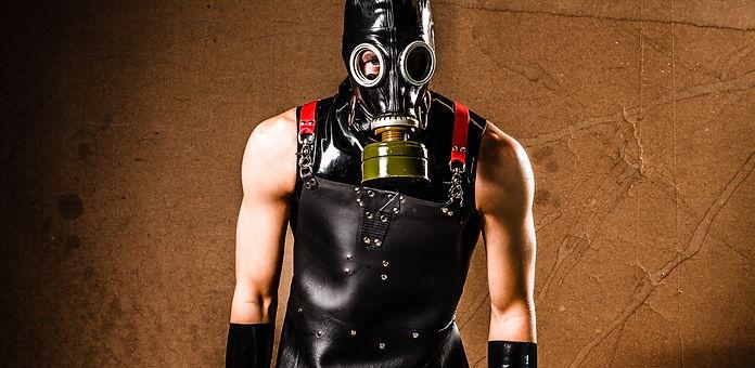rubber apron gas mask