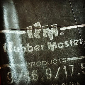"""rubbe master"" printed on inner tube rubber"