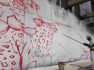 Intervención artística se toma los bajos de Plaza de la Libertad