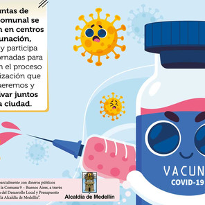 Esta semana se activan los puntos de vacunación en las JAC de Medellín