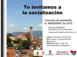 Socialización de plan de trabajo de comunicaciones Comuna 9