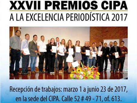 Postúlese Premios CIPA a la Excelencia Periodística hasta el 23 de junio