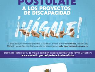 Hasta el 12 de marzo se llevará a cabo jornada de postulación a los proyectos de discapacidad