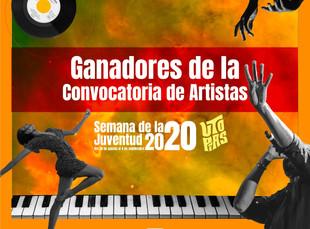Conoce a los ganadores de la convocatoria de artistas para la Semana de la Juventud 2020