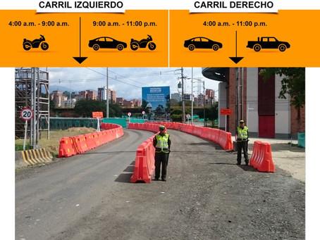 Recomendaciones de movilidad para el uso de puentes militares y vía interna  de Parques del Río desd