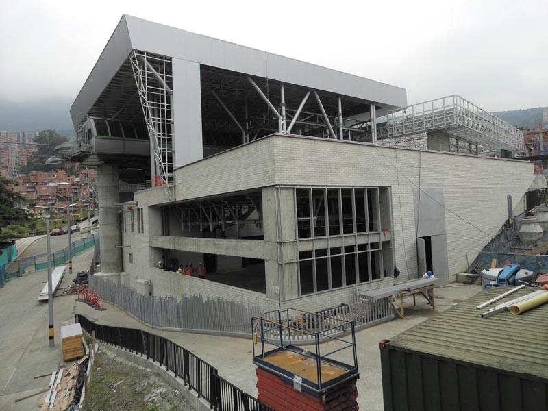Sistema cable línea H - Estación Oriente. Cortesía Metro de Medellín