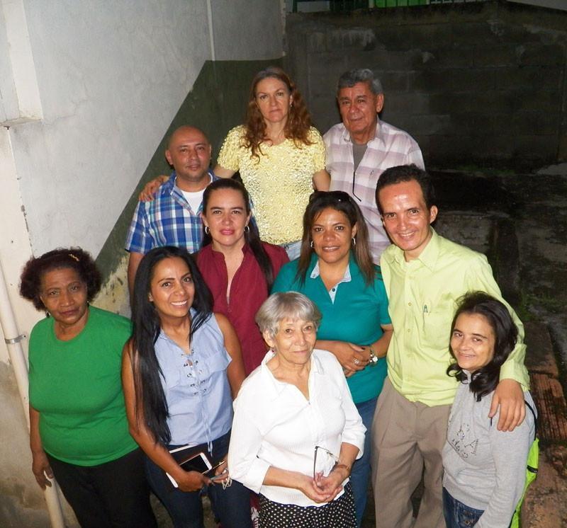 Miembros JAC barrio El Salvador