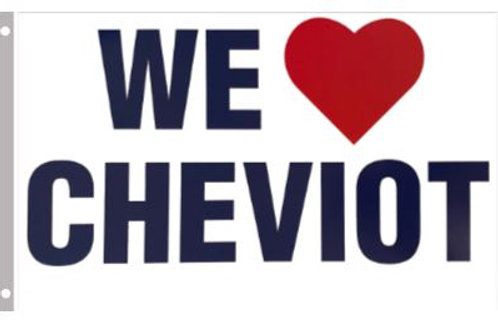 We  ❤️ Cheviot Flag