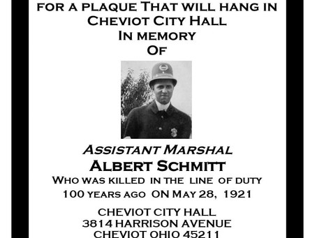 Cheviot Fallen Officer: Albert Schmitt Honored 100 Years After Giving His Life In The Line of Duty