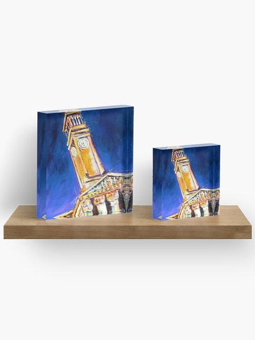 Clock Tower Acrylic Block