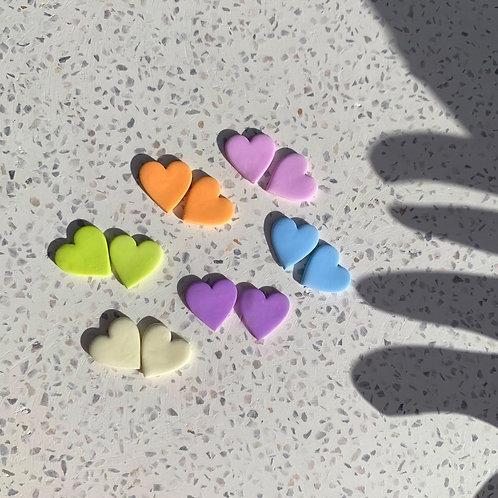 Pastel Heart Studs