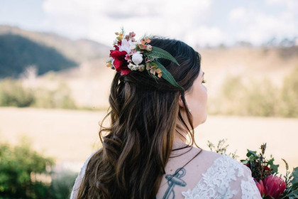 Bridal Australian Native Flower Comb