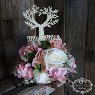 Cake Florals with Cake Topper