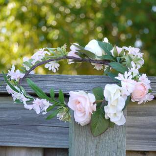 Blush Pink Flower Crown