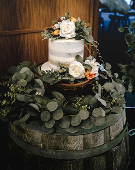 Dusty Orange and Ivory Artificial Cake Florals