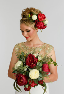 Rustic Posy Bouquet and Flower Crown