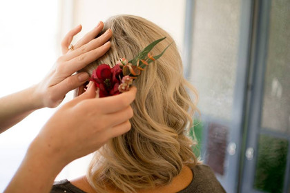Floral Combs for Bride and Bridesmaids