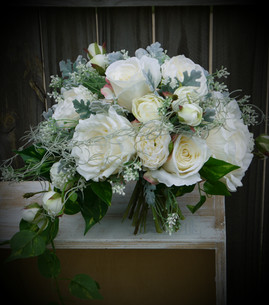 Ivory & Green Posy Bouquet