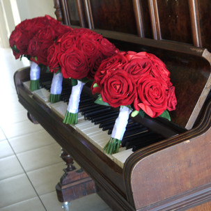 Romantic Red Posy Bouquets