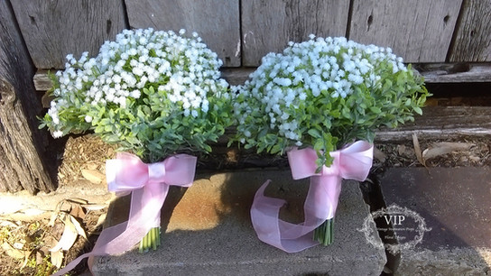 Babies Breath Bridesmaids Bouquets