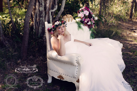 Full Floral Crown and Large Bouquet