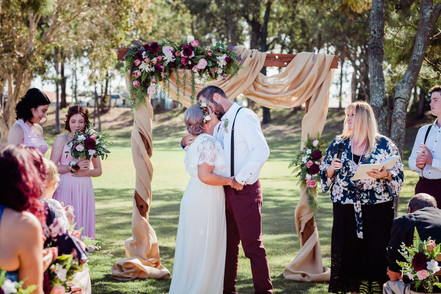 A Rustic Styled Ceremony