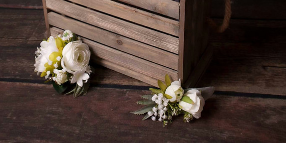 Artificial Corsage and Buttonhole