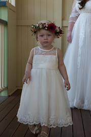 Artificial Flower Girl Crown