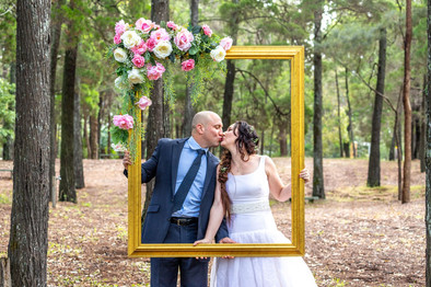 Giant Gold Poloroid Frame Hire