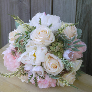 Blush Pink and Ivory Native Posy Bouquet