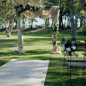 Vintage Rustic Ceremony Set Up
